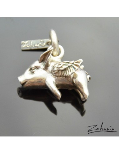Pendant Flying Pig Silver