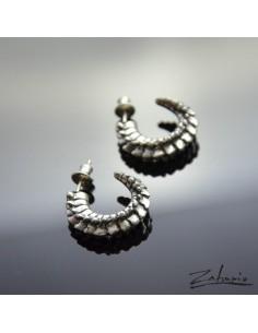 Earrings Spine Silver