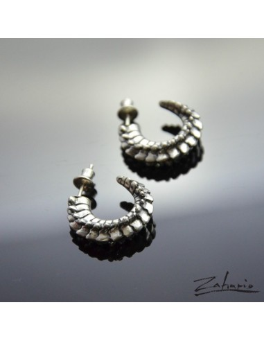 Earrings Spine Silver
