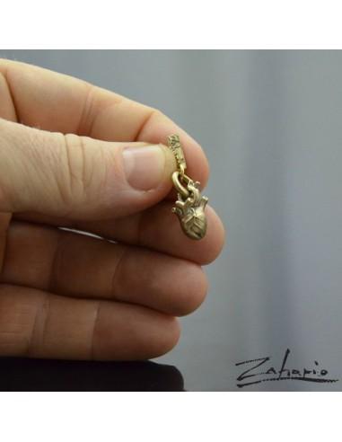 Pendant Anatomical Heart Small Bronze