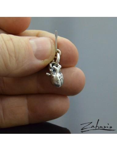 Pendant Anatomical Heart Small Silver