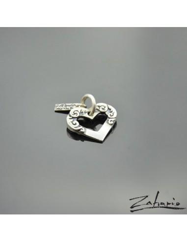 Pendant Ornamented Heart Silver
