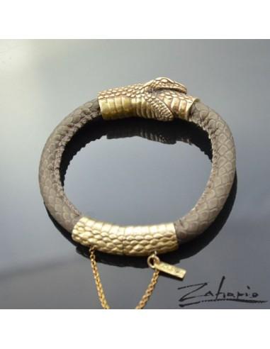 Brcelet Snake Uroboros Bronze
