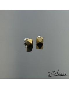 Earrings Brads Piramid Bronze