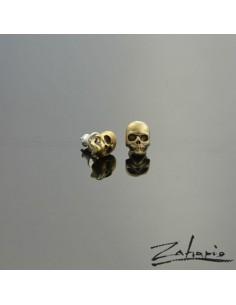 Earrings Skulls Small Bronze