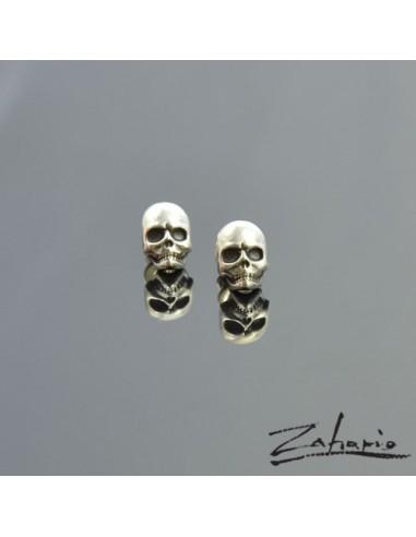 Earrings Skulls Small Silver