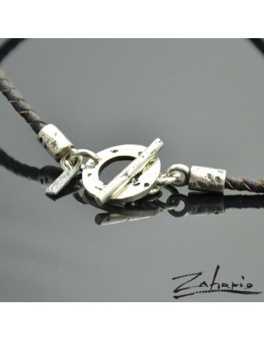 Braided Strap with a Silver Clasp